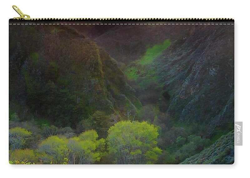 Tranquility Carry-all Pouch featuring the photograph Usa, California, Big Sur, Bixby Bridge by Don Smith