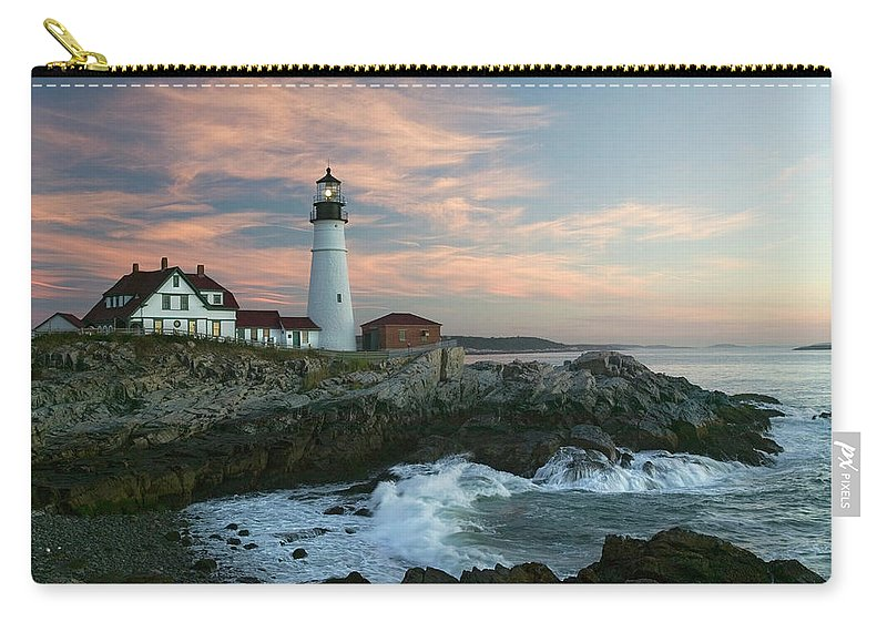Scenics Carry-all Pouch featuring the photograph Usa, Maine, Cape Elizabeth, Portland by Visionsofamerica/joe Sohm