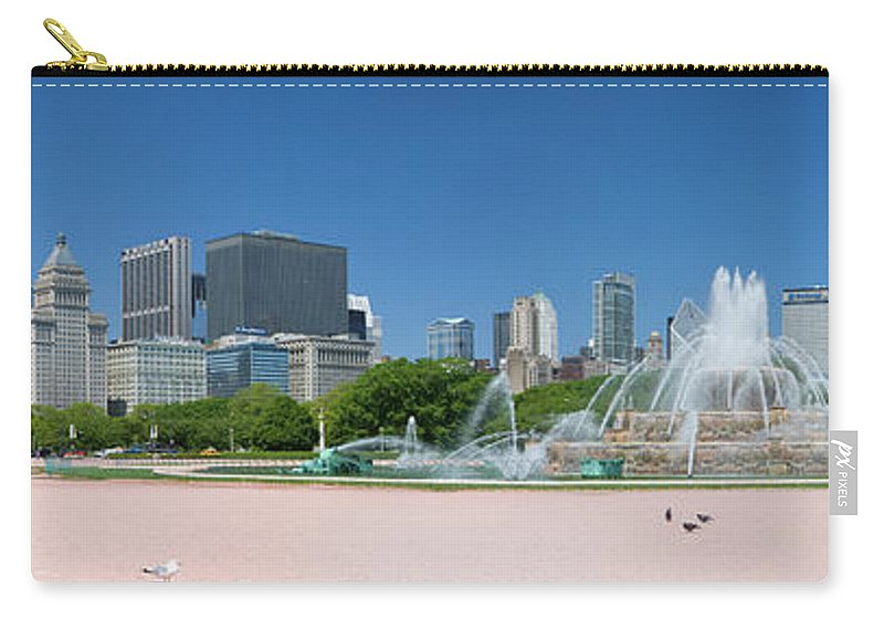 Panoramic Carry-all Pouch featuring the photograph Usa, Michigan, Chicago, Buckingham by Travelpix Ltd