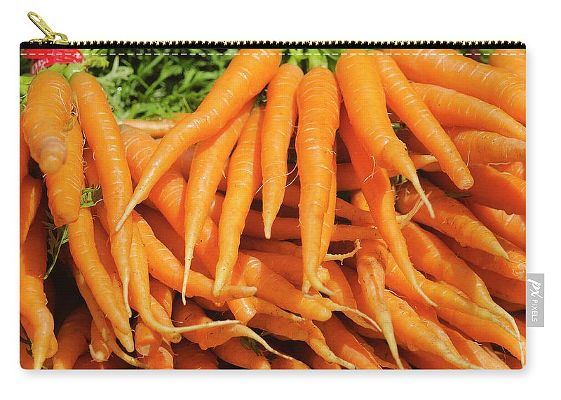 Large Group Of Objects Carry-all Pouch featuring the photograph Usa, New York City, Carrots For Sale by Tetra Images