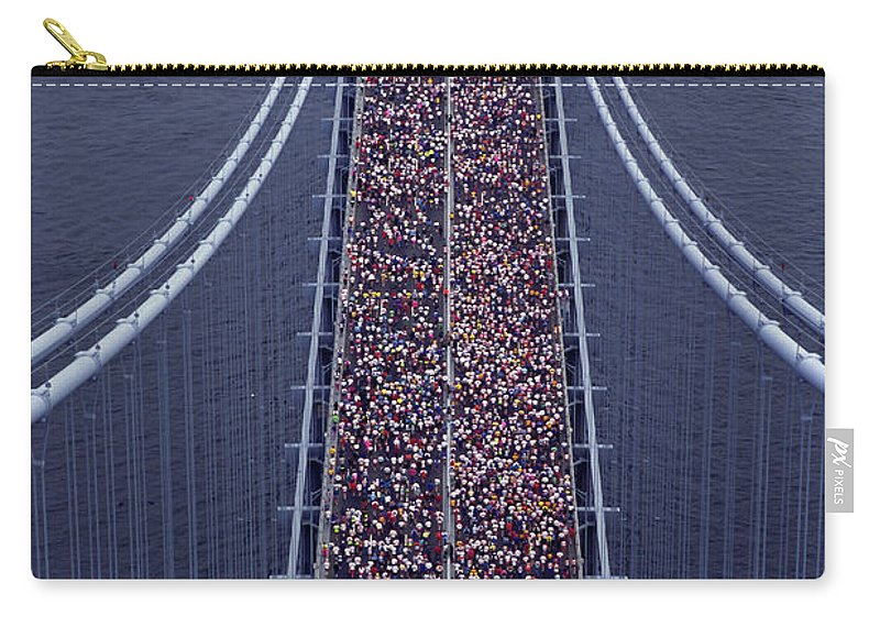 Crowd Carry-all Pouch featuring the photograph Usa, New York City, Marathon Race by Joanna Mccarthy