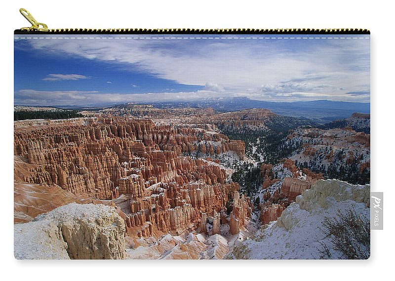 Snow Carry-all Pouch featuring the photograph Usa, Utah, Winter Bryce Canyon by Stan Osolinski