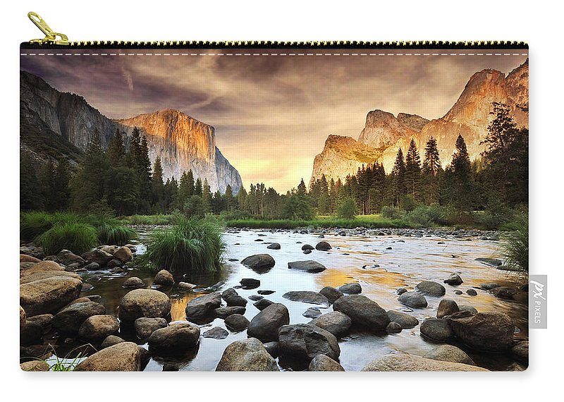 Scenics Carry-all Pouch featuring the photograph Valley Of Gods by John B. Mueller Photography