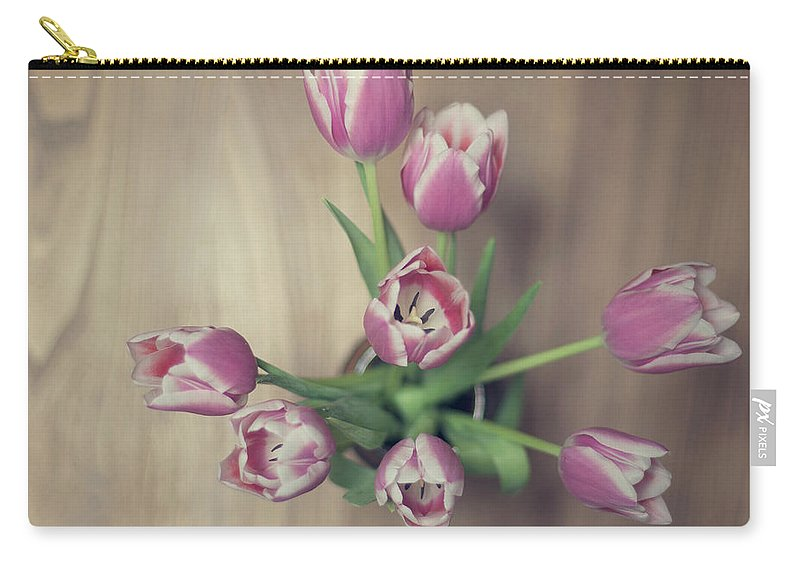 Vase Carry-all Pouch featuring the photograph Vase Full Of Happiness by Paula Daniëlse