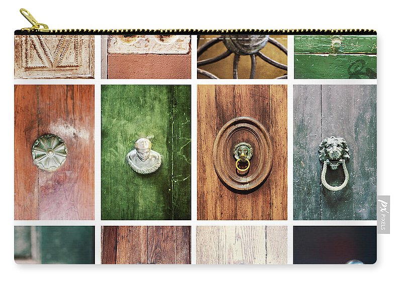 Veneto Carry-all Pouch featuring the photograph Venetian Door Knobs by Dori Oconnell