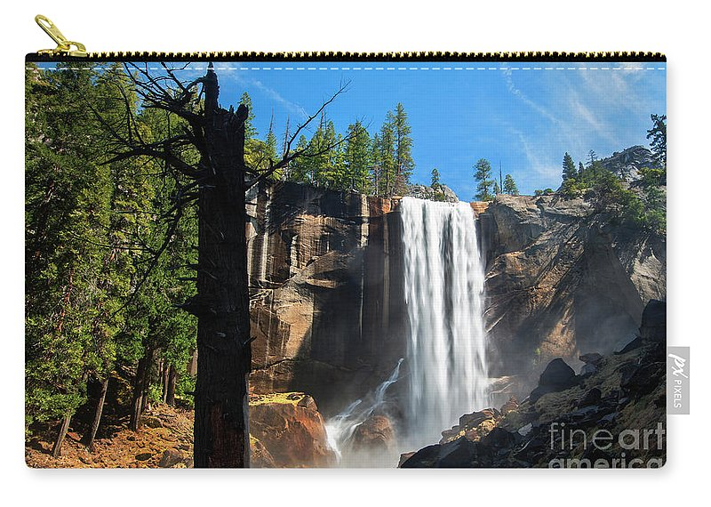 Vernal Fall Carry-all Pouch featuring the photograph Vernal Fall, Yosemite National Park by Yefim Bam