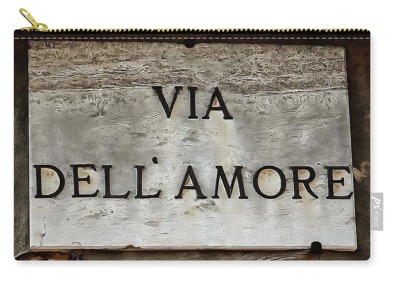 Via Dell'amore Carry-all Pouch featuring the photograph Via Dell'amore by Dorothy Berry-Lound