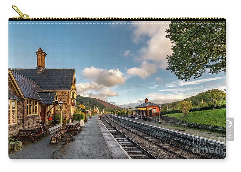 Railway Carry-all Pouch featuring the photograph Victorian Railway Tea Room by Adrian Evans