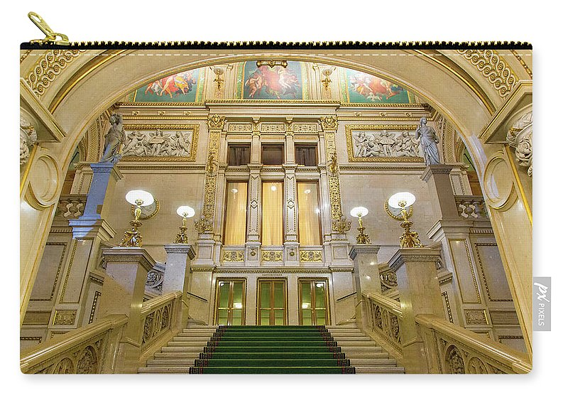 History Carry-all Pouch featuring the photograph Vienna Opera House, The Main Hall by Sylvain Sonnet