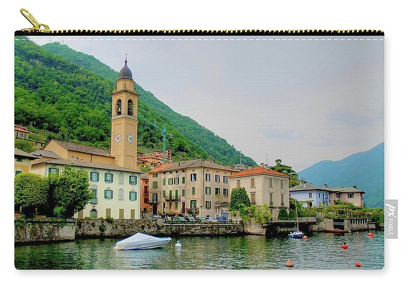 Part Of A Series Carry-all Pouch featuring the photograph View From Laglio On Lake Como by Cranjam