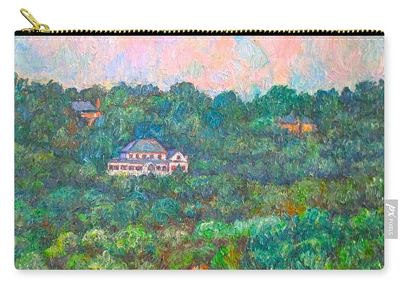 Mountains Carry-all Pouch featuring the painting View From Rec Center by Kendall Kessler
