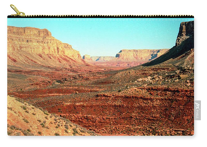 Desert Carry-all Pouch featuring the photograph View from the Hilltop by Kathy McClure