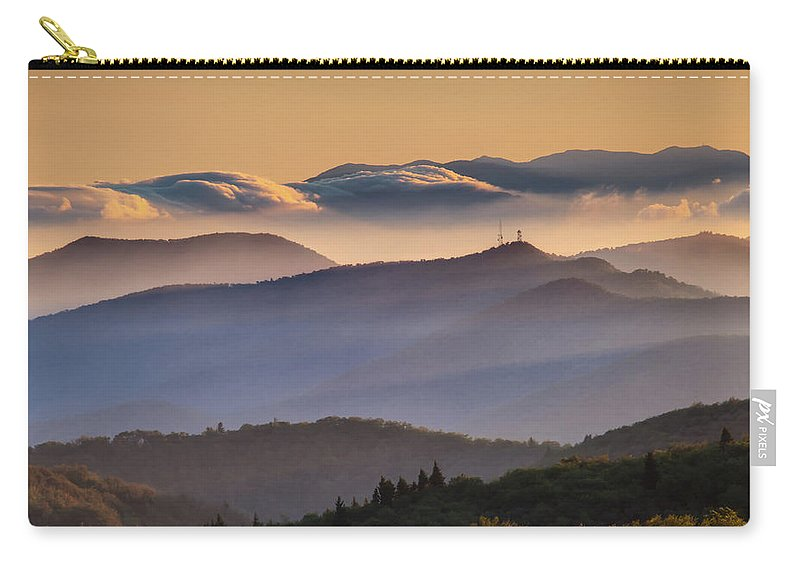 North Carolina Carry-all Pouch featuring the photograph View Of Frying Pan Mountain by Fine Art Images By Rob Travis Photography