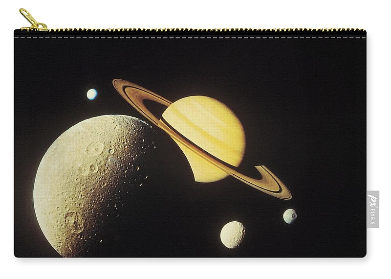 Galaxy Carry-all Pouch featuring the photograph View Of Planets In The Solar System by Stockbyte