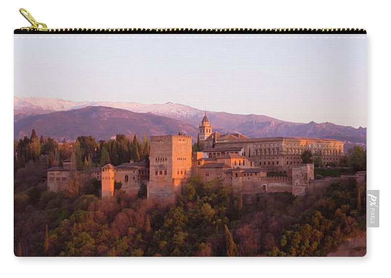 Scenics Carry-all Pouch featuring the photograph View To The Alhambra At Sunset by David C Tomlinson