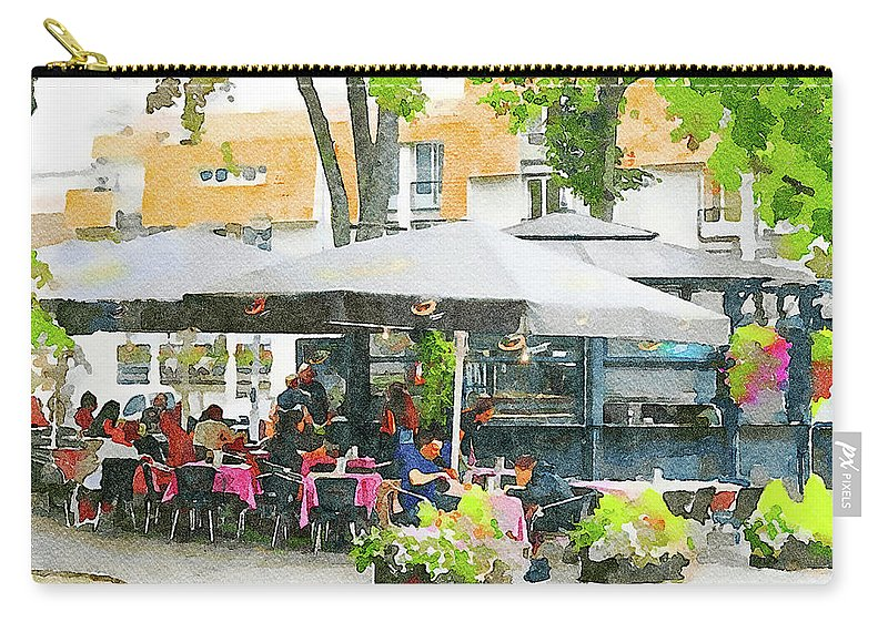 Vilnius Carry-all Pouch featuring the digital art Vilnius Summer Time Leisure Time by Yury Malkov