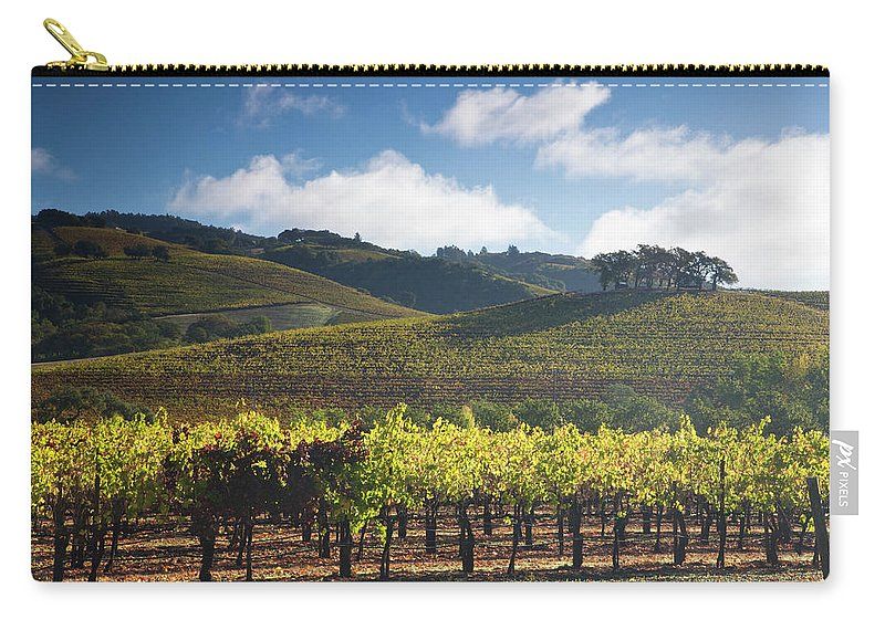 Sonoma County Carry-all Pouch featuring the photograph Vineyards Autumn Time In Sonoma Valley by Darrell Gulin