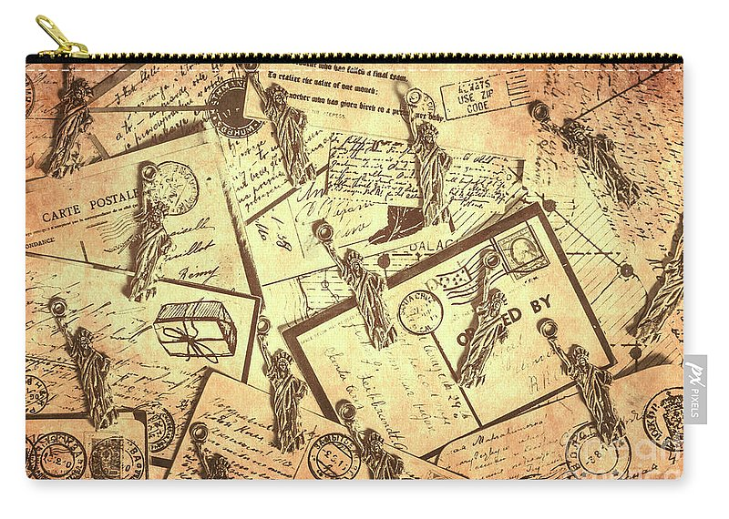 Postcard Carry-all Pouch featuring the photograph Vintage New York Post by Jorgo Photography - Wall Art Gallery