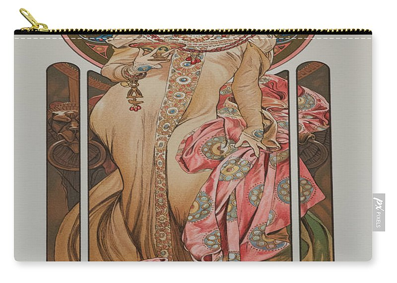 Vintage Poster Carry-all Pouch featuring the painting Vintage Poster - Champagne by Vintage Images