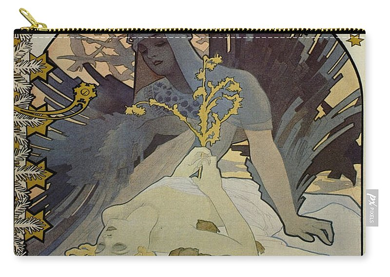 Vintage Poster Carry-all Pouch featuring the painting Vintage Poster - L'illustration by Vintage Images