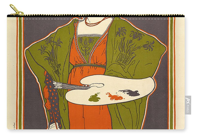 Vintage Poster Carry-all Pouch featuring the painting Vintage Poster - Louis Rhead by Vintage Images