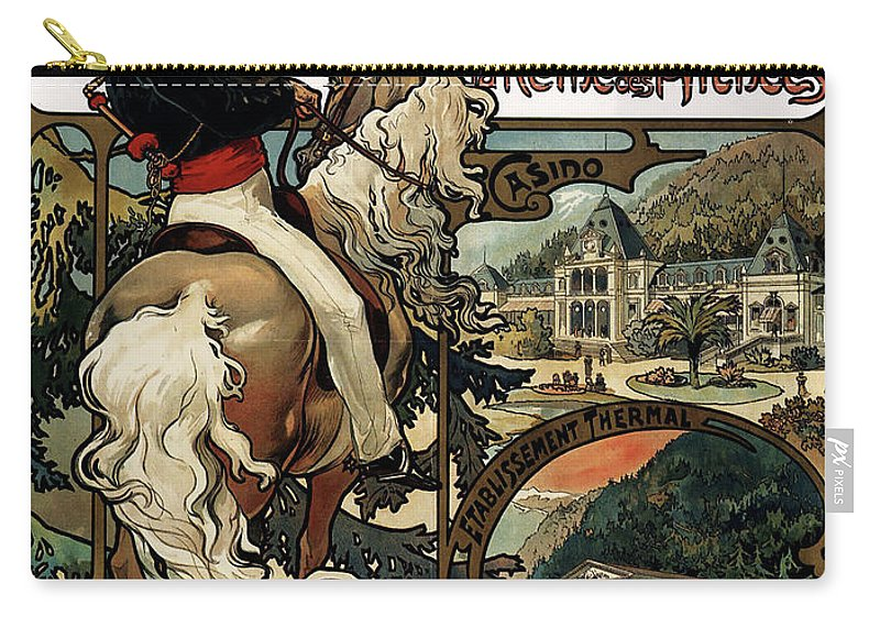Vintage Poster Carry-all Pouch featuring the painting Vintage Poster - Luchon by Vintage Images