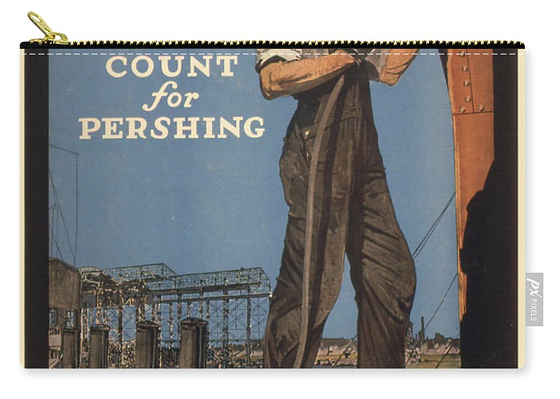 Vintage Poster Carry-all Pouch featuring the painting Vintage Poster - Make Every Minute Count by Vintage Images