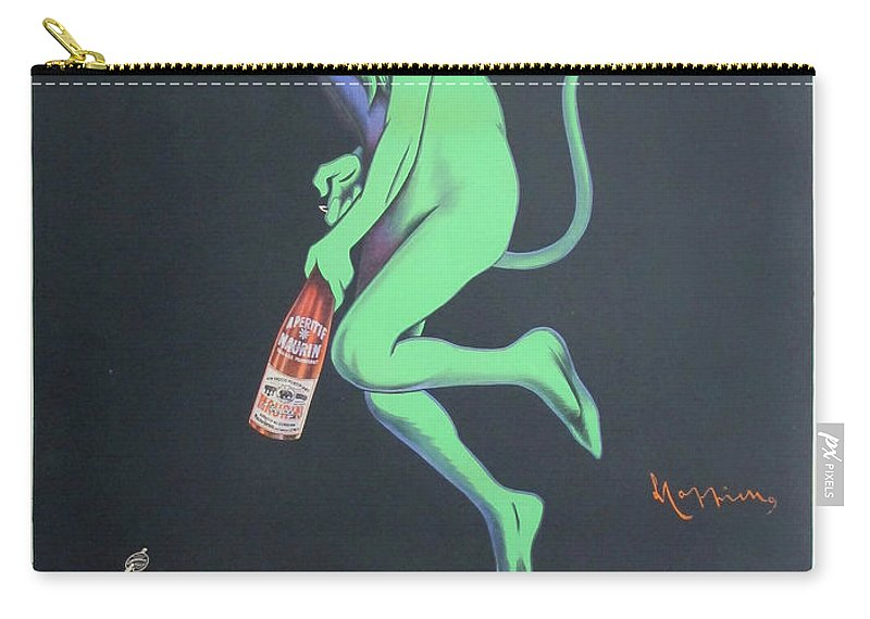 Advertisement Carry-all Pouch featuring the painting Vintage Poster - Maurin Quina by Vintage Images