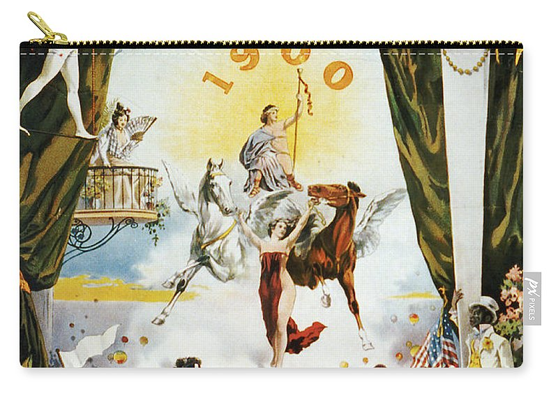 Vintage Poster Carry-all Pouch featuring the painting Vintage Poster - Mobile Mardi Gras by Vintage Images