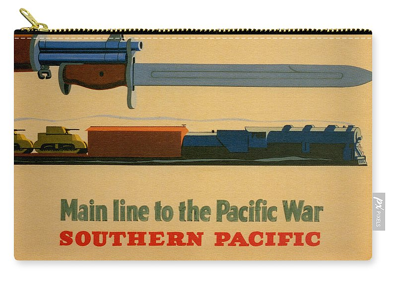 Advertisement Carry-all Pouch featuring the painting Vintage Poster - Southern Pacific by Vintage Images