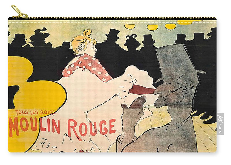 Advertisement Carry-all Pouch featuring the painting Vintage Poster - Toulouse Lautrec by Vintage Images