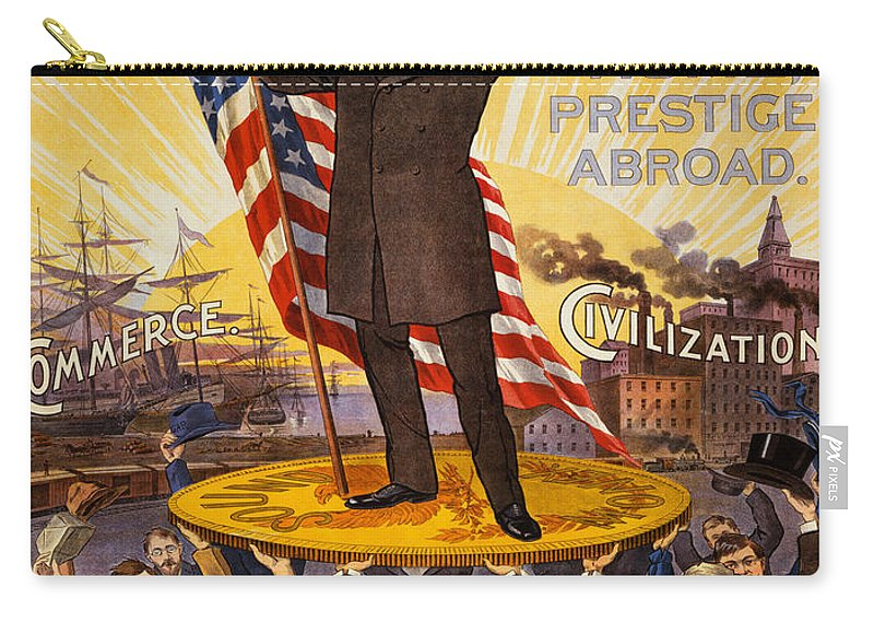 Vintage Poster Carry-all Pouch featuring the painting Vintage Poster - William Mckinley by Vintage Images