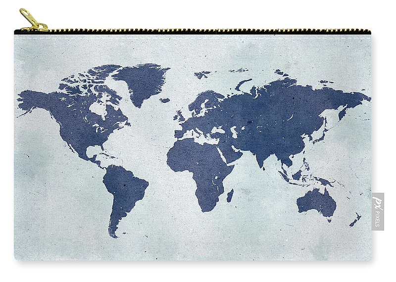 Material Carry-all Pouch featuring the photograph Vintage World Map by Yorkfoto