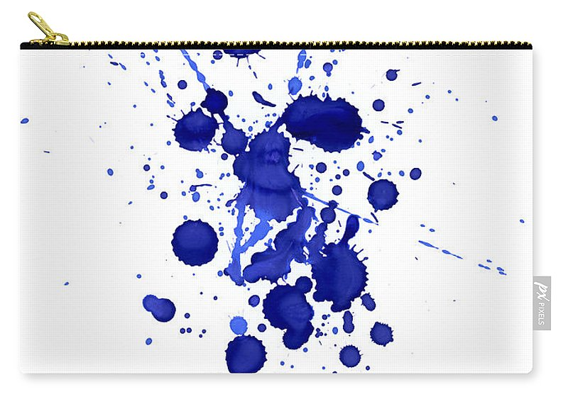 Watercolor Painting Carry-all Pouch featuring the photograph Violet Splashes by Alenchi