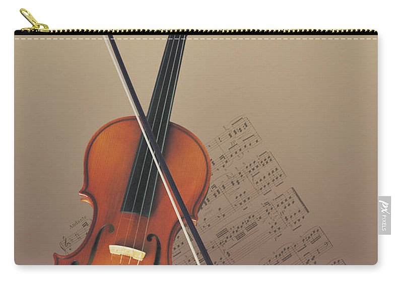 Sheet Music Carry-all Pouch featuring the photograph Violin by Comstock