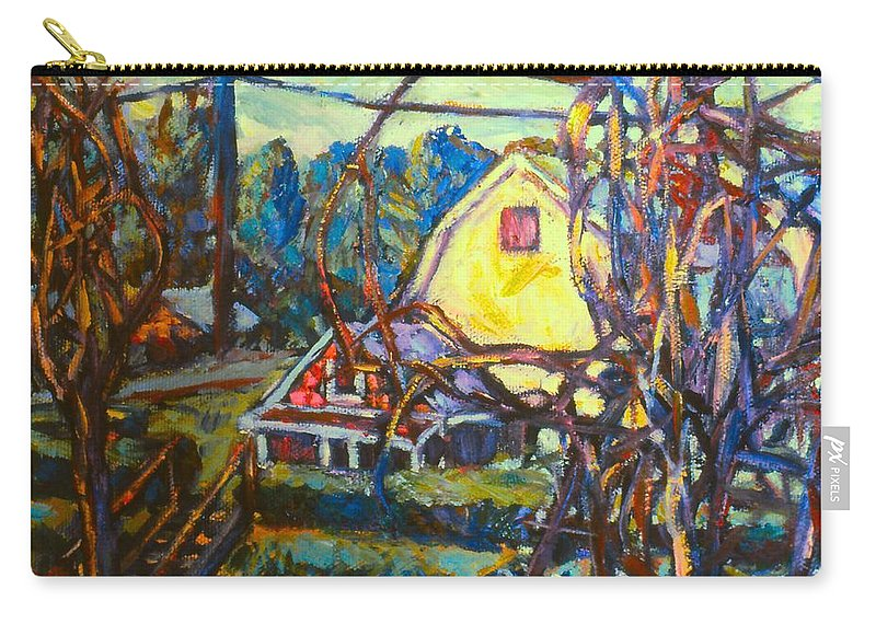 Houses Carry-all Pouch featuring the painting Wadsworth Avenue Again by Kendall Kessler