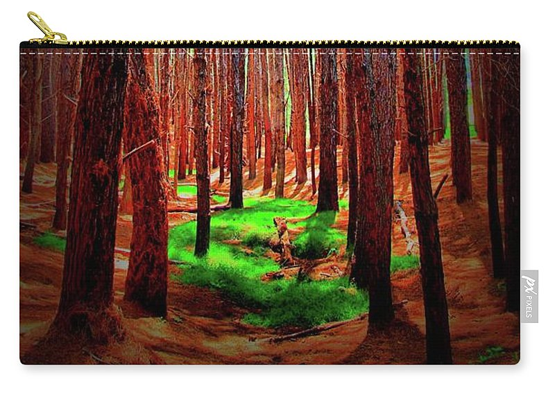 Forest Carry-all Pouch featuring the photograph Waihou Forest - Maui by DJ Florek