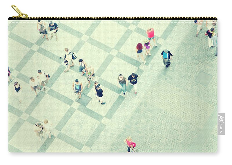 Pedestrian Carry-all Pouch featuring the photograph Walking People by Carlo A