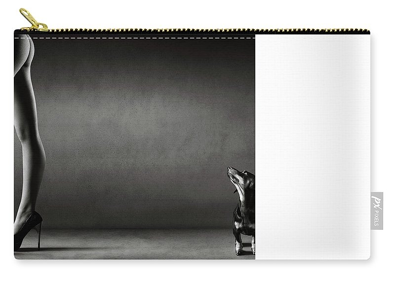 Nude Carry-all Pouch featuring the photograph Walking The Wild Side by Johan Swanepoel