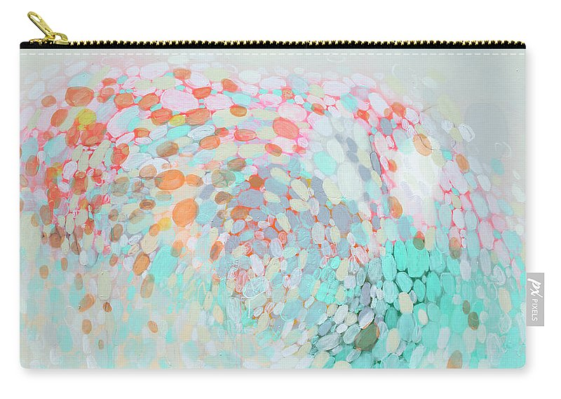 Abstract Carry-all Pouch featuring the painting Want To Go by Claire Desjardins