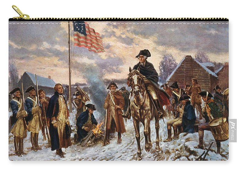 George Washington Carry-all Pouch featuring the painting Washington at Valley Forge by War Is Hell Store