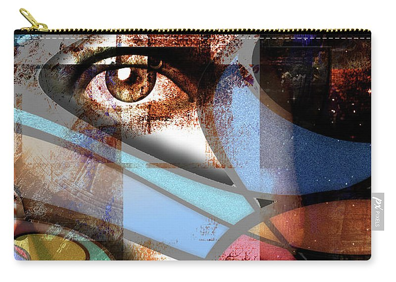 Abstract Carry-all Pouch featuring the digital art Watch by Bruce Rolff