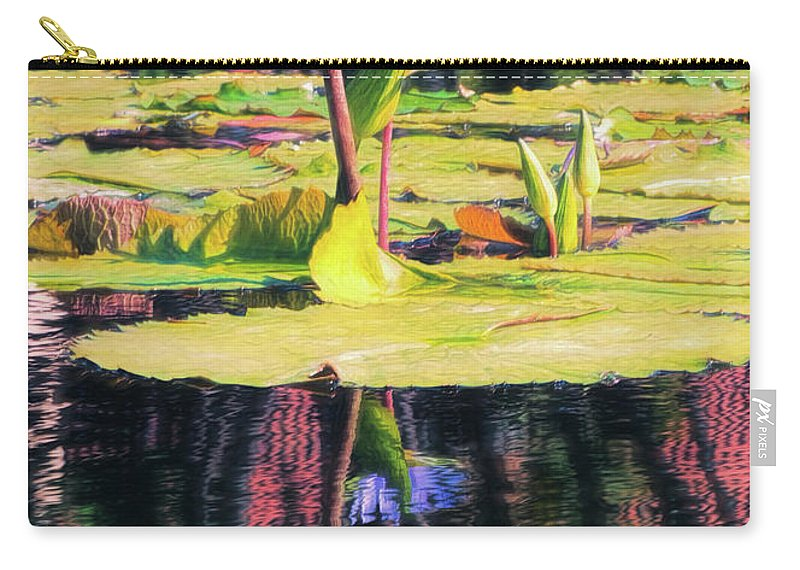 California Carry-all Pouch featuring the photograph Water Lily 12 by Claude LeTien