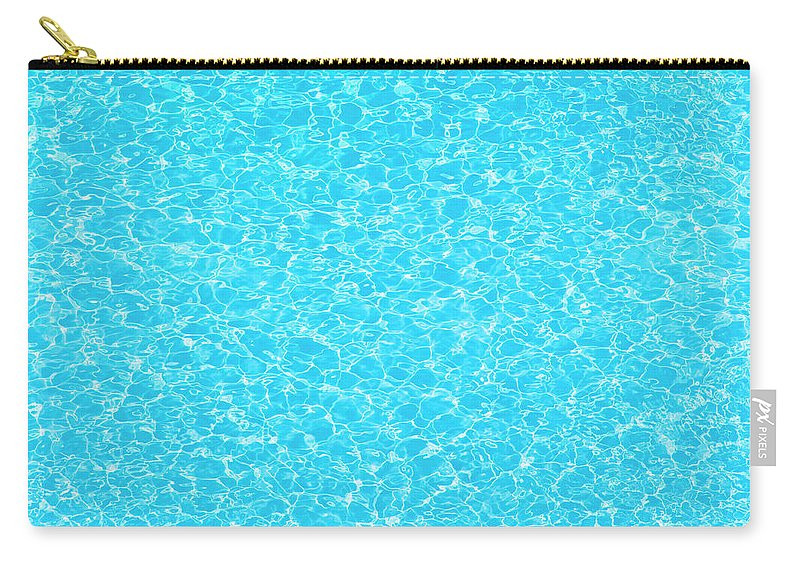 Cool Attitude Carry-all Pouch featuring the photograph Water Wave Pattern Of Swimming Pool by Anddraw