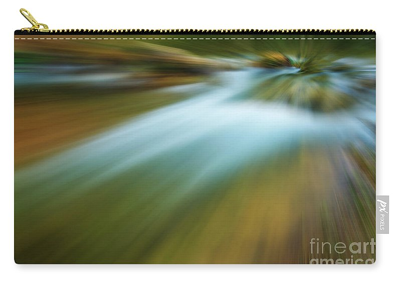 Photography Carry-all Pouch featuring the photograph Waterfall Abstract by Vicente Sargues
