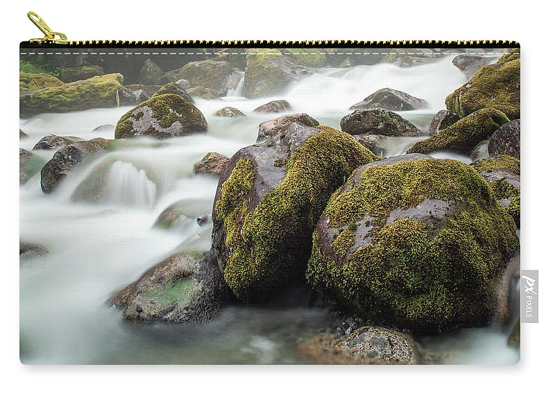Tranquility Carry-all Pouch featuring the photograph Waterfall, Bc, Canada by Paul Souders