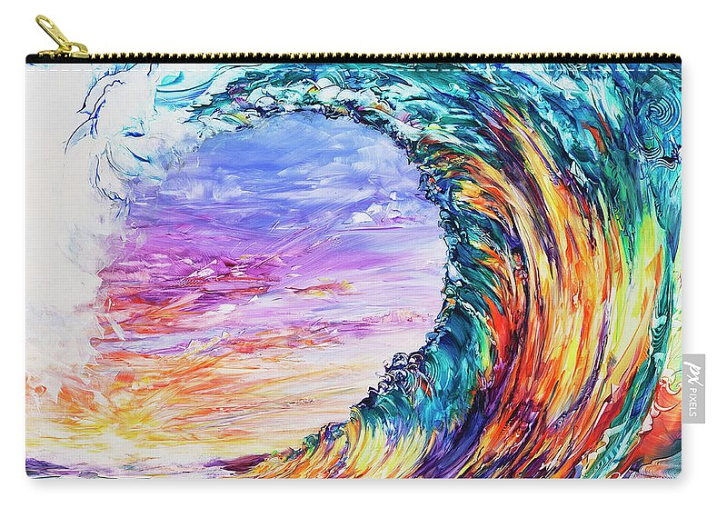 Hawaii Carry-all Pouch featuring the painting Wave Of Promises by Susan Card