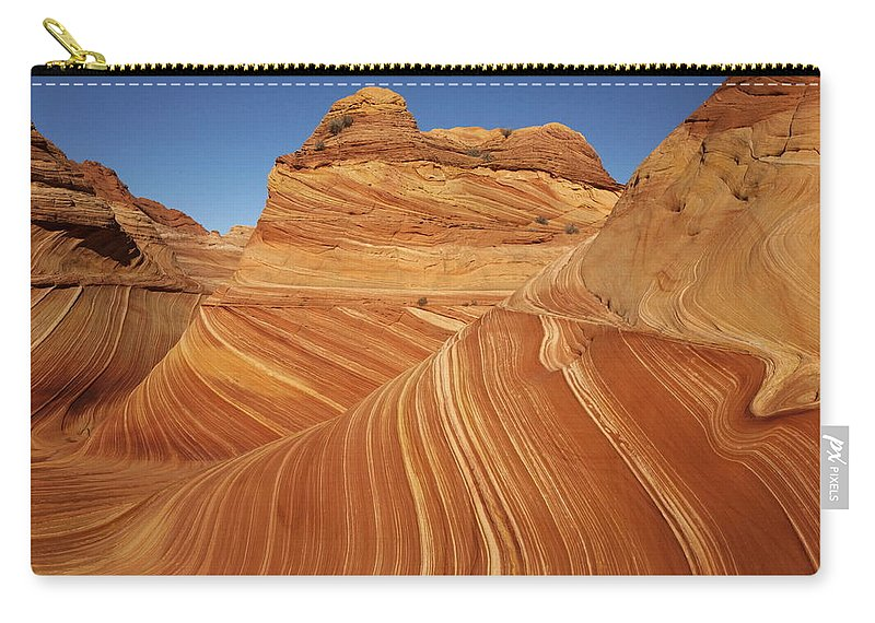 Toughness Carry-all Pouch featuring the photograph Wave, Paria Canyon by © Vadim Balakin
