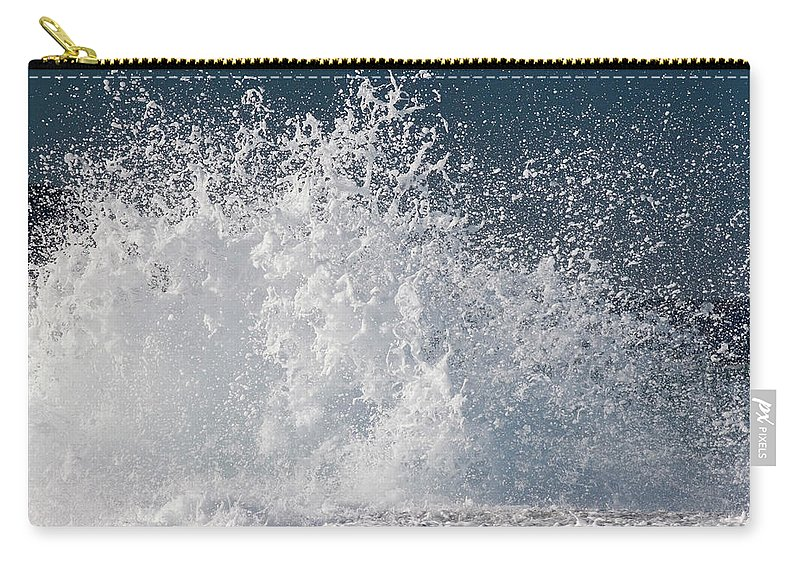 Spray Carry-all Pouch featuring the photograph Wave Splash by Hanis