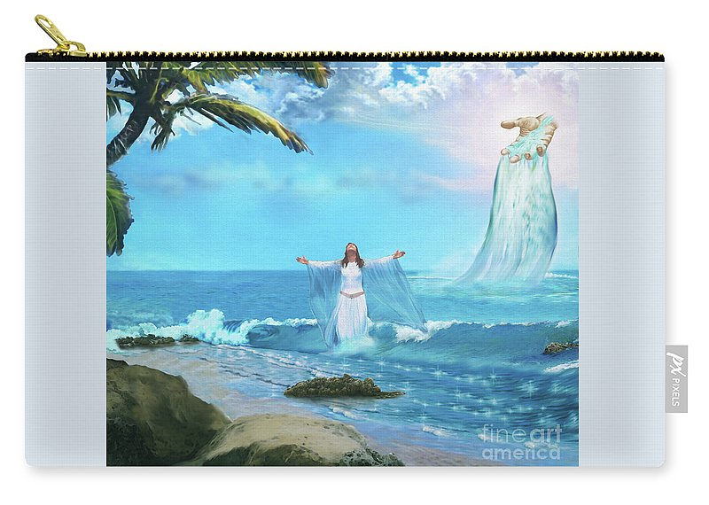 Waves Of Mercy Carry-all Pouch featuring the painting Waves Of Mercy by Todd L Thomas